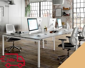 Next-Day Campos Bench Desks (Orange)