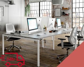 Next-Day Campos Bench Desks (Red)
