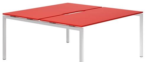 Campos Bench Desks (Red)