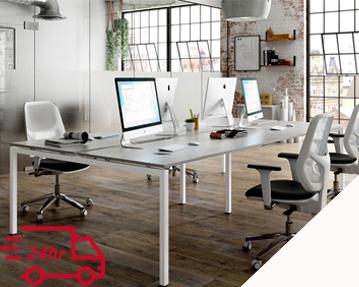 Next-Day Campos Bench Desks (White)