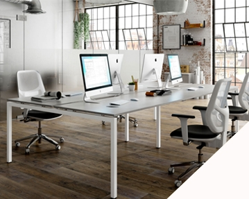 Campos Bench Desks (White)