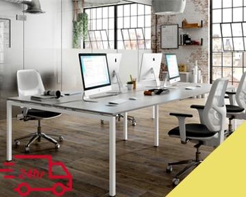 Next-Day Campos Bench Desks (Yellow)
