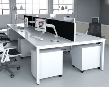 Pamola Bench Desks (White Legs)