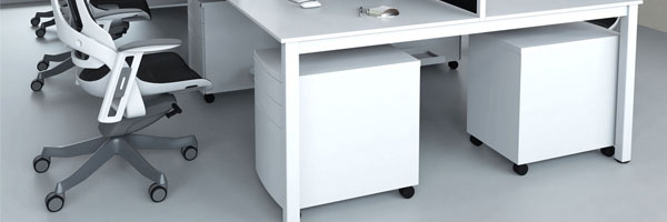 Pamola Bench Desks (White Legs)