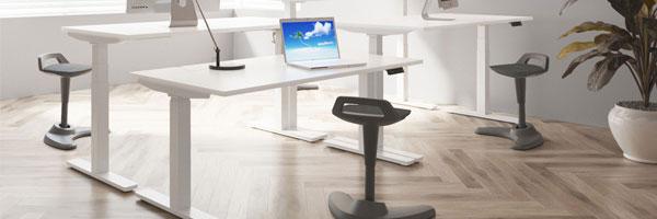 Vitali Sit & Stand (White Legs)