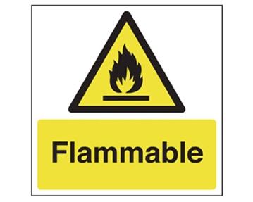 Flammable Hazard Signs