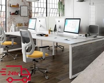 Next-Day Lasso Bench Desks (Concrete)