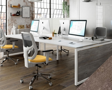 Lasso Bench Desks (Pitted Steel)