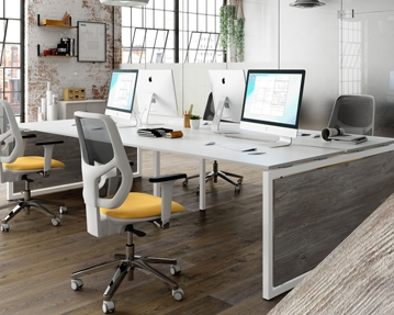 Lasso Bench Desks (Platinum Oak)
