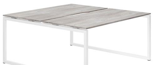 Lasso Bench Desks (Platinum Oak)