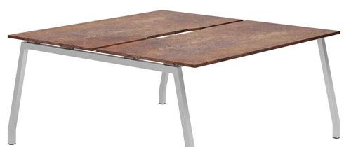 Lasso Bench Desks (Rusted Steel)