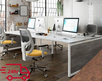 Next-Day Lasso Bench Desks (Rusted Steel)