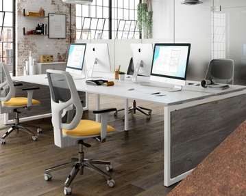 Lasso Bench Desks (Rusted Steel)
