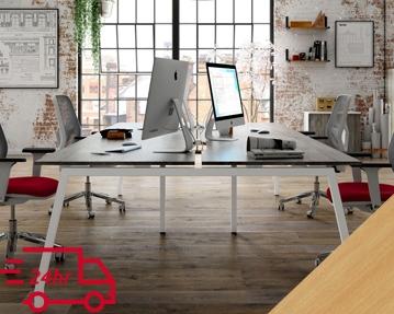 Next-Day Lozano Bench Desks (Beech)