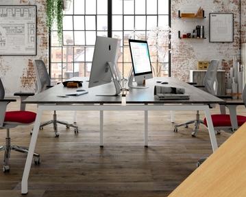 Lozano Bench Desks (Beech)
