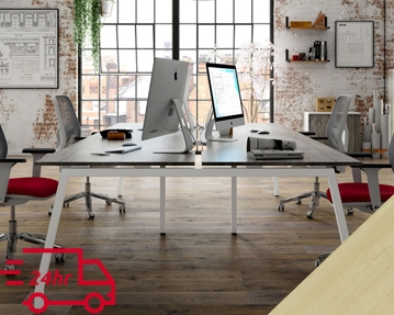 Next-Day Lozano Bench Desks (Maple)