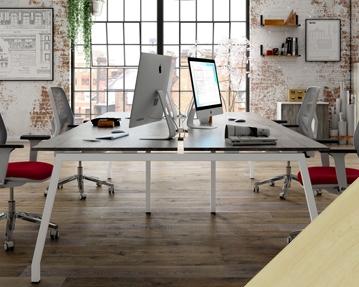 Lozano Bench Desks (Maple)