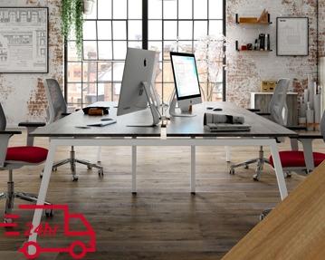 Next-Day Lozano Bench Desks (Walnut)
