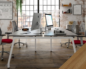 Lozano Bench Desks (Walnut)
