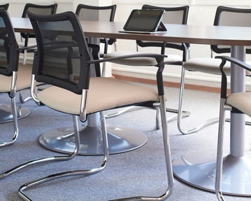 Cantilever Mesh Chairs