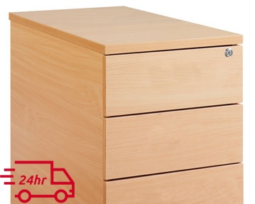 Next-Day Flush Front Desk Drawers
