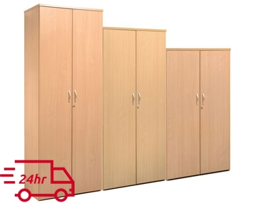 Next-Day Wood Double Door Cupboards
