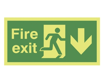 Nite-Glo Fire Exit Signs