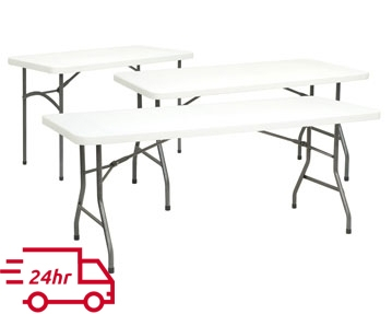Next-Day Plastic Folding Tables