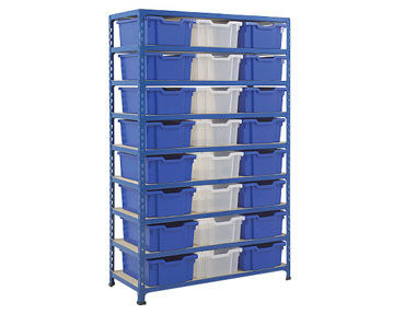Shelving With Trays