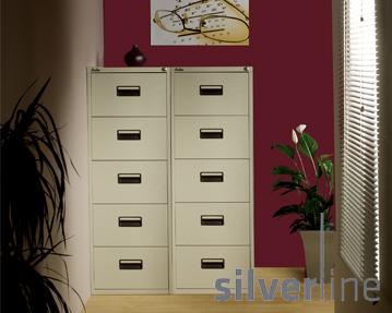 Silverline 5 Drawer Filing Cabinets