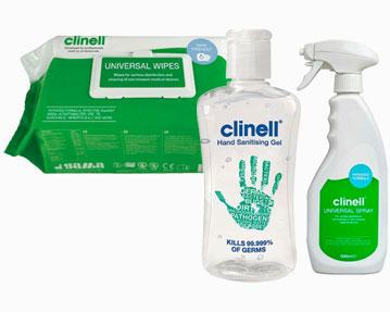 Hand Gels, Sanitising Wipes & Cleaning Products