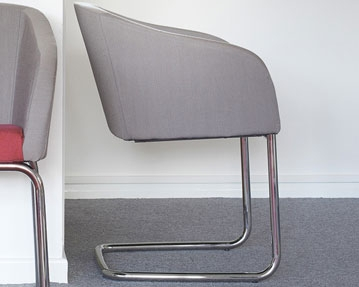 Cantilever Fabric Chairs