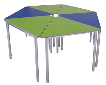 Educate Premium Wedge Classroom Tables