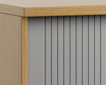 Wood Tambour Door Cupboards