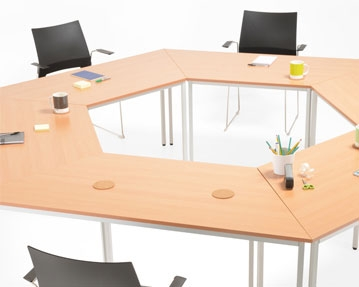 Origin Fixed Leg Meeting Tables