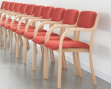 Wood Framed Reception Chairs