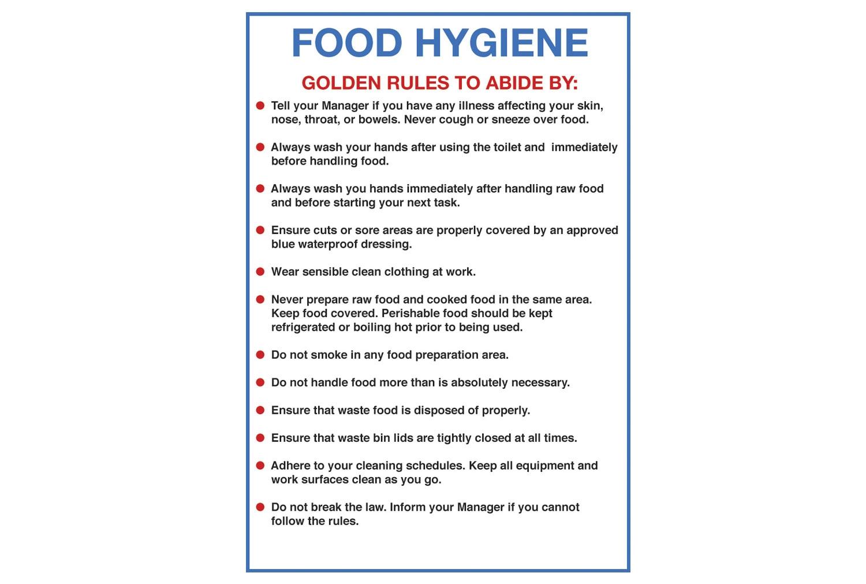 Food Hygiene Sign