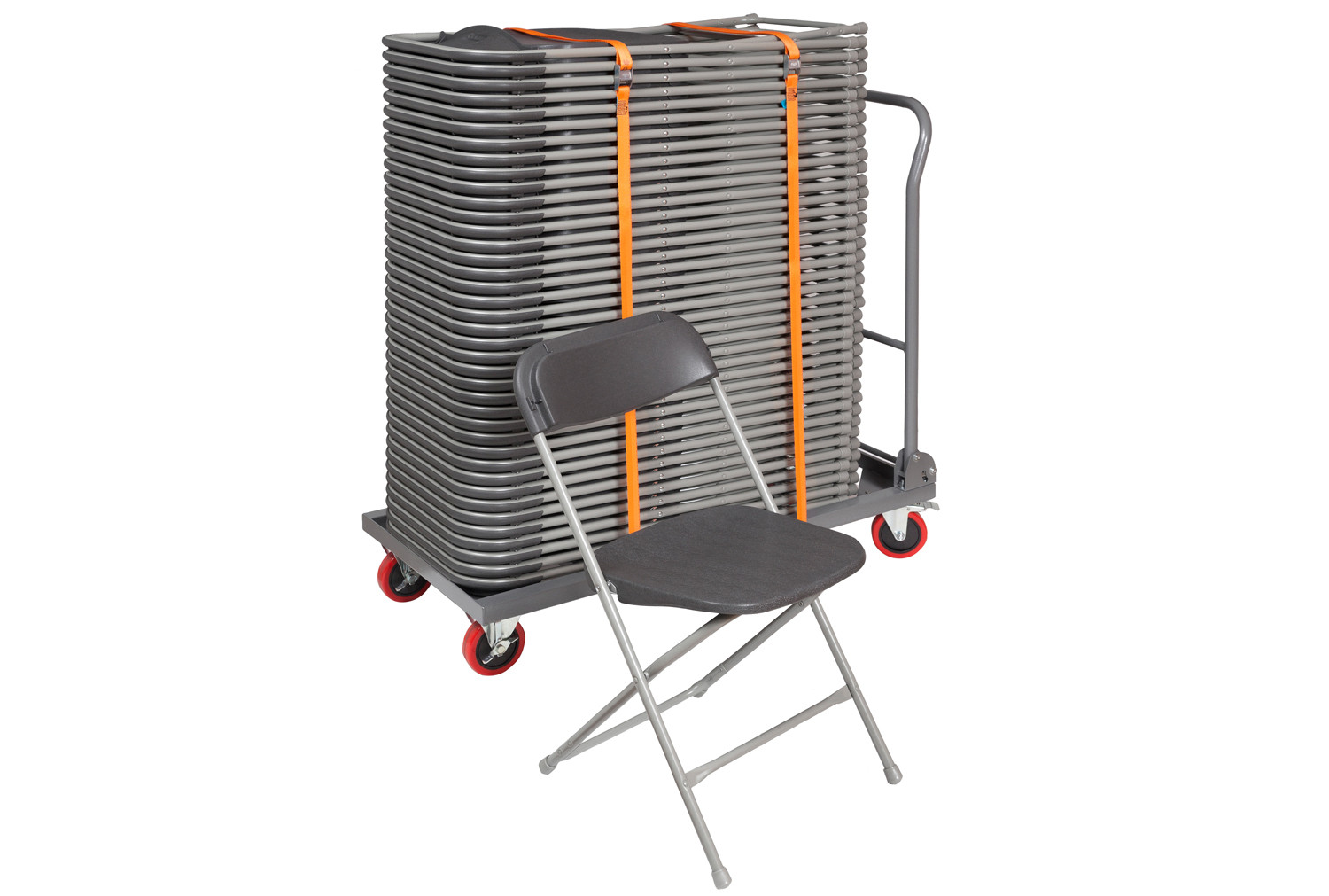 Classic Folding Chair Bundle Deal (40 Chairs & 1 Trolley)
