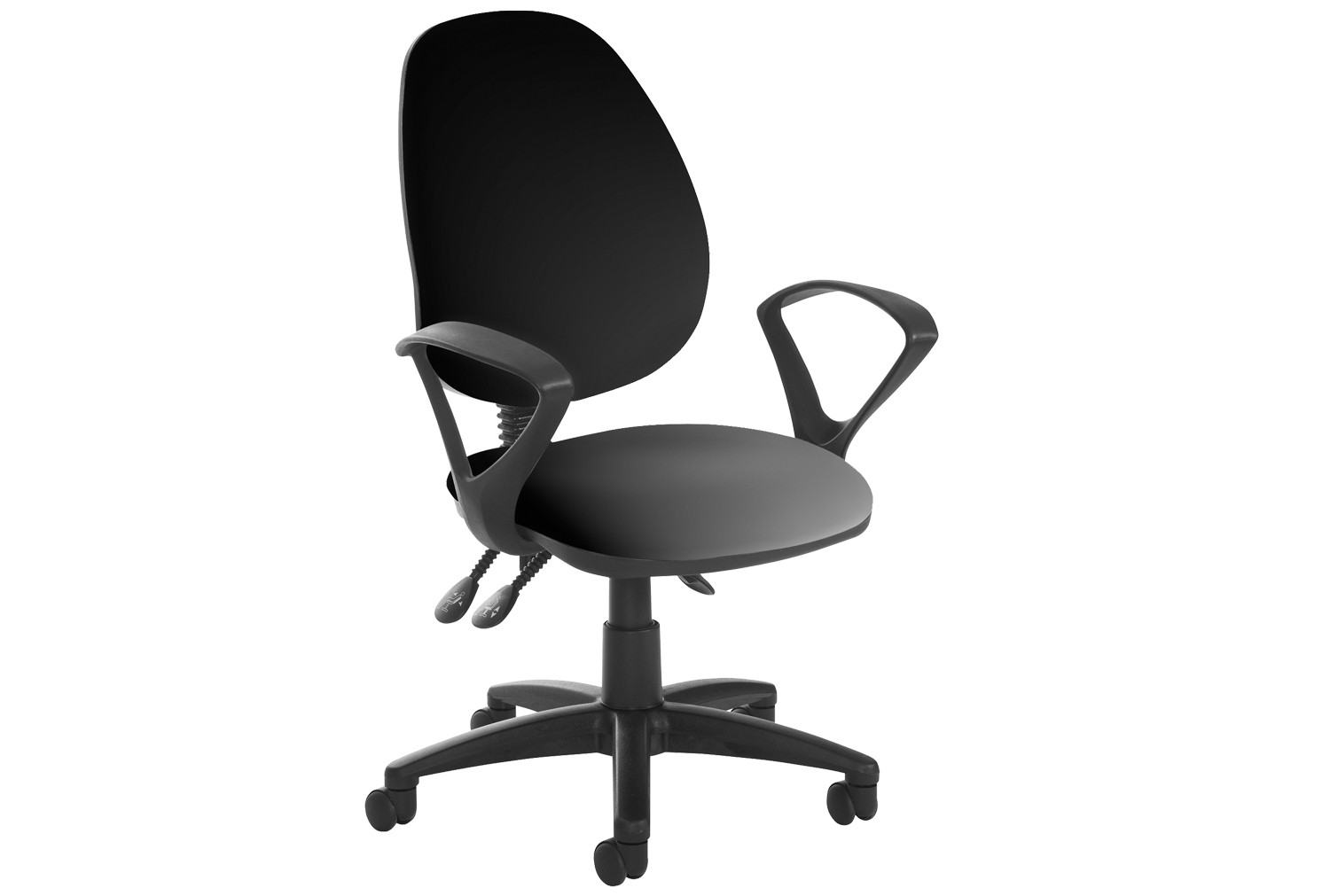 Vantage Plus High Back Asynchro Vinyl Operator Chair With Fixed Arms