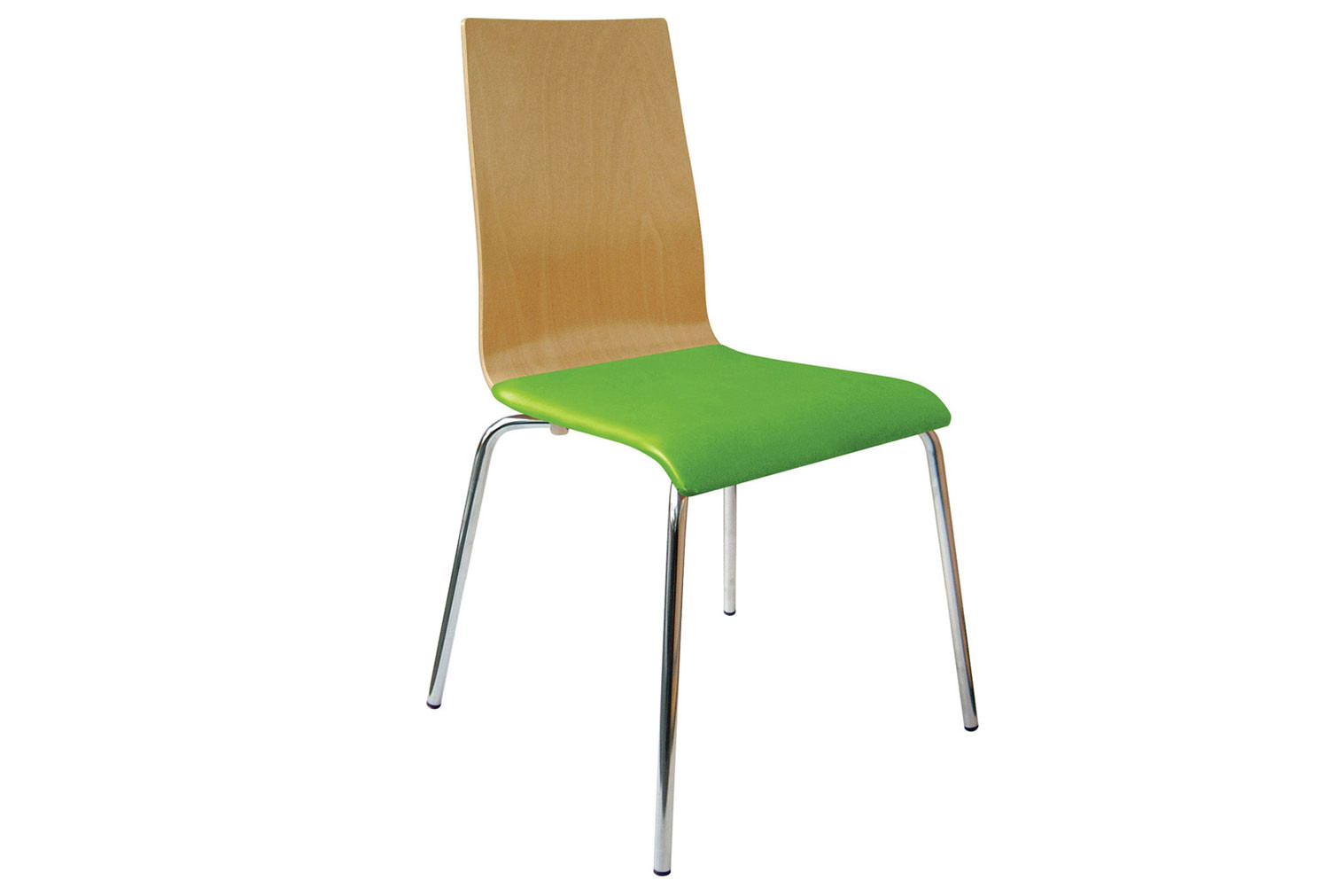 Source Beech Bistro Chair With Upholstered Seat