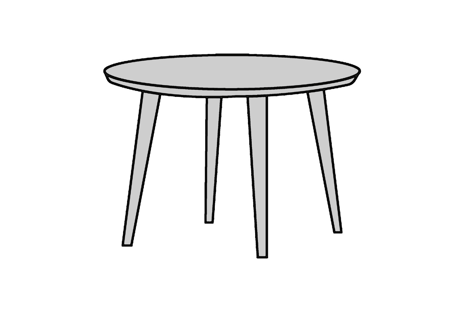 Lima Conical Leg Coffee Table