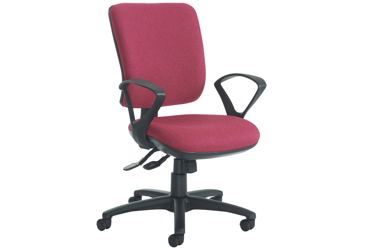 Polnoon High Back Operator Chair With Fixed Arms