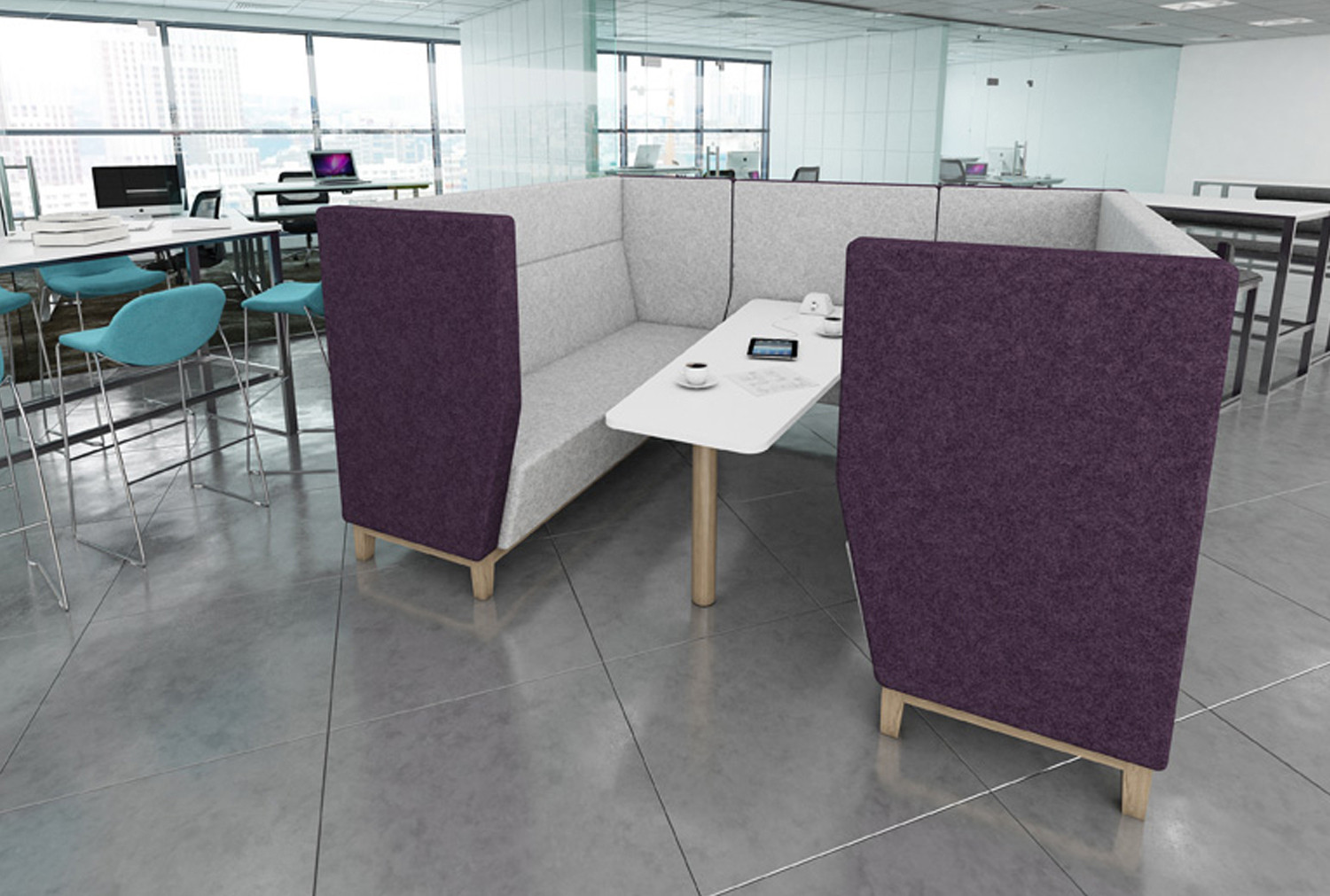 Niche Narrow 6 Seater Meeting Pod With Wooden Legs