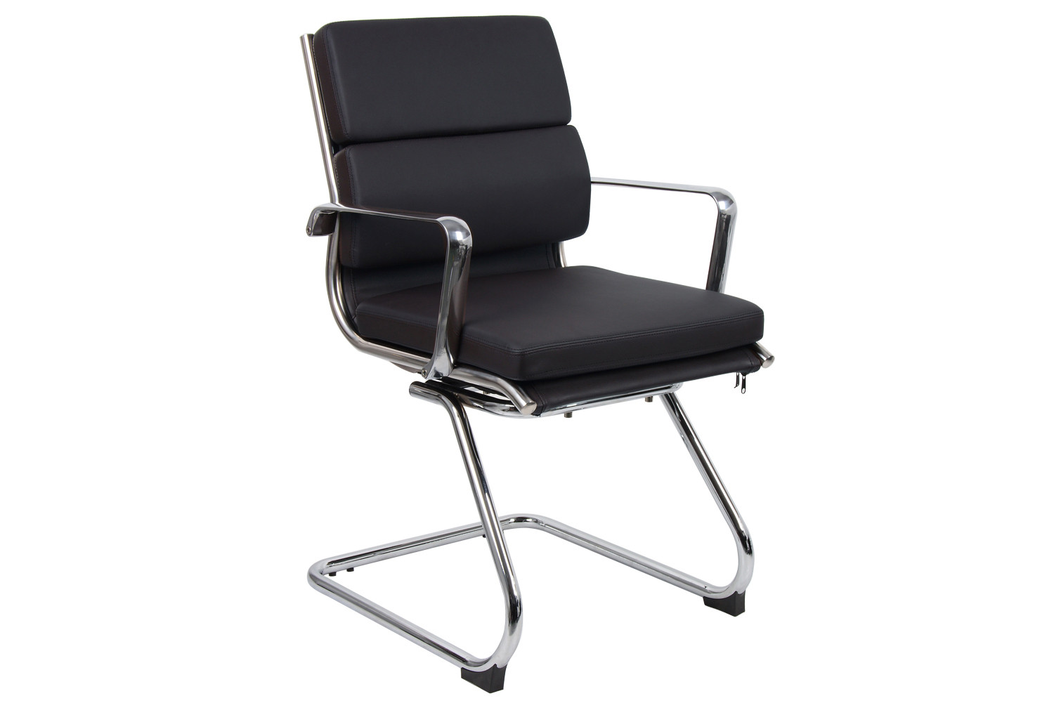 Formosa Black Leather Faced Visitor Chair