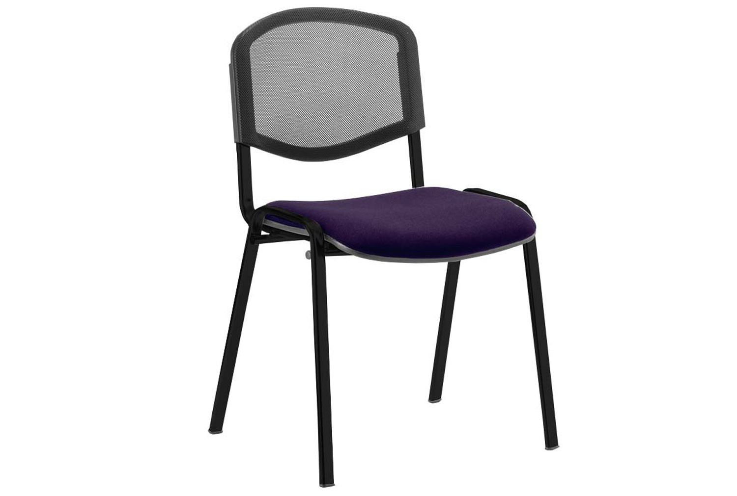 ISO Black Frame Mesh Back Conference Chair (Tansy Purple)