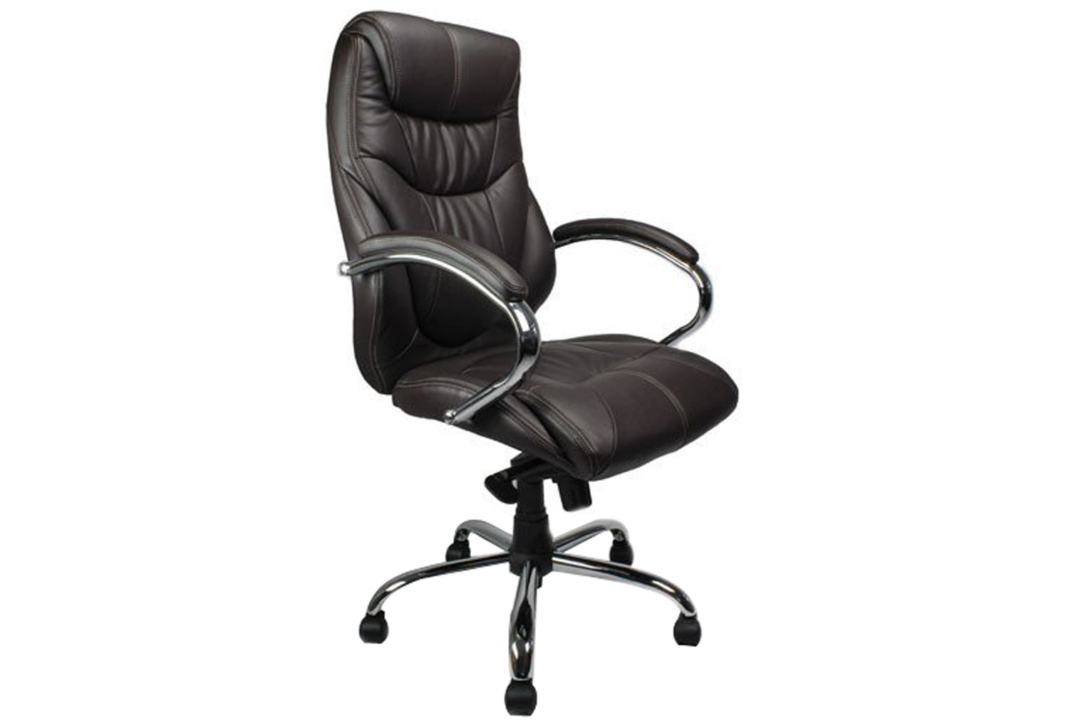 Kintyre Brown Leather Faced Executive Chair