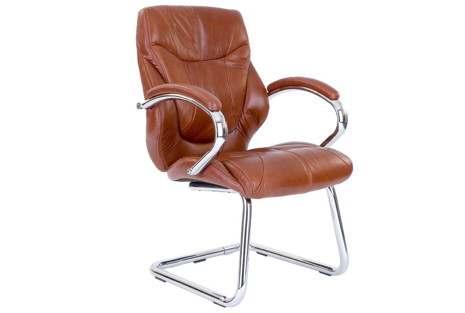 Kintyre Tan Leather Faced Visitor Chair