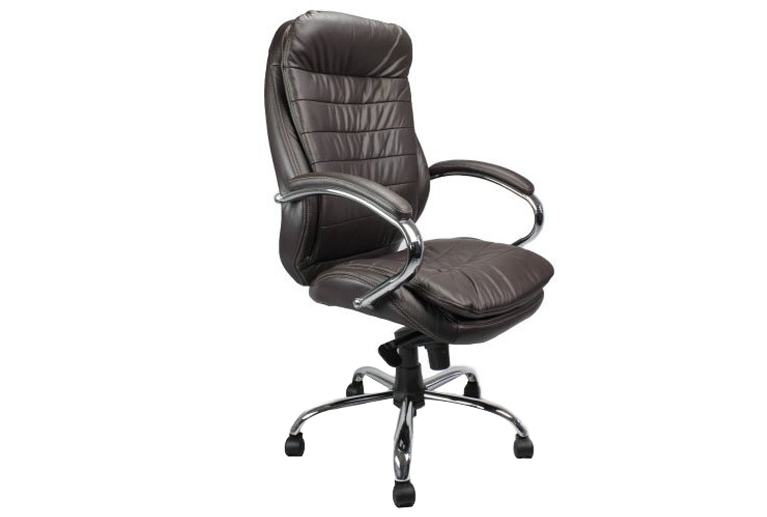 Nairn Brown Leather Faced Executive Chair