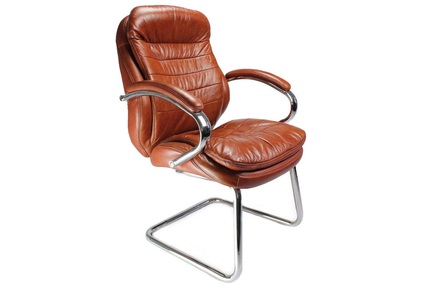 Nairn Tan Leather Faced Visitor Chair