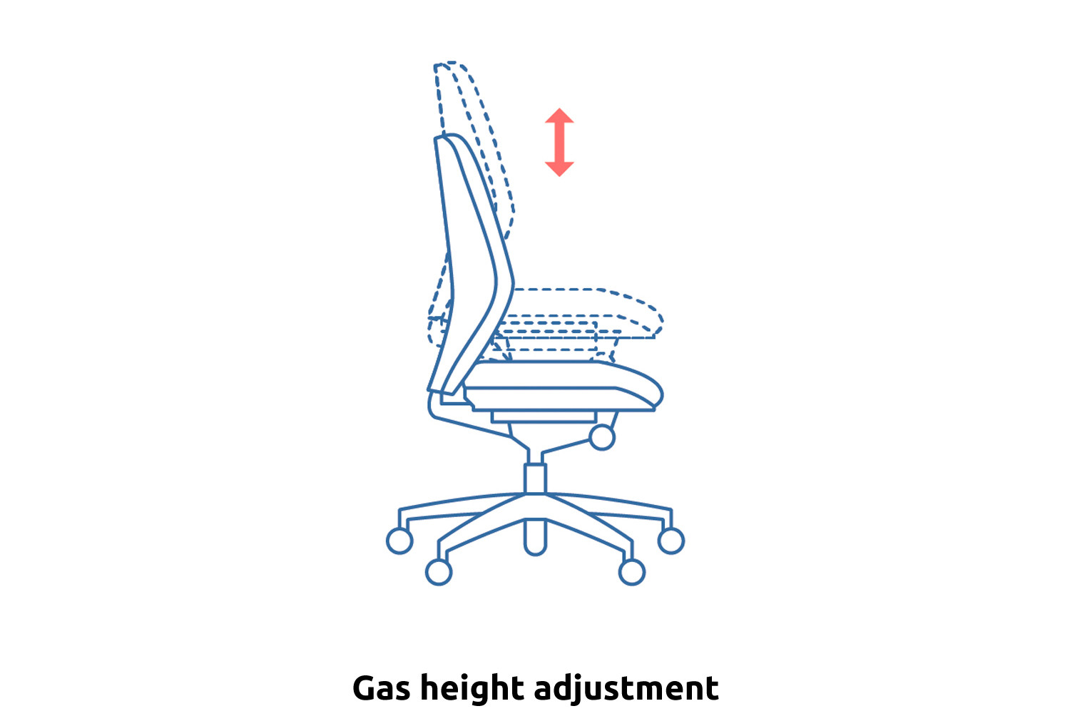 Gilmour High Back Operator Chair With Height Adjustable Arms